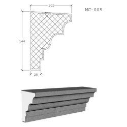 Espuma de poliestireno expandible de espuma de poliestireno EPS al aire libre la construcción de moldeo de cornisa