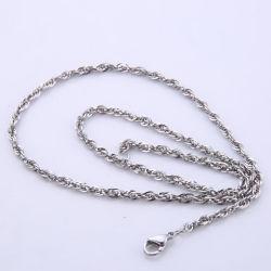 Venda por grosso triplicado o fio quadrado Bracelete Colar Corrente Jóias Acessórios de Moda de Aço Inoxidável