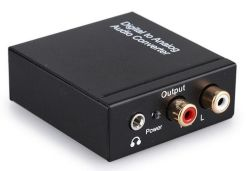 Optisches Koaxial-Signal RCA-Toslink zum analogen Audiokonverter
