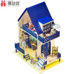 Charmante maison de poupée en bois jouet de bricolage avec des meubles