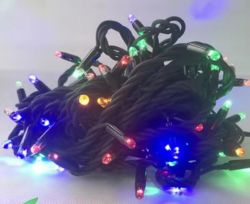 100 LED String Light 8functions con connettore maschio