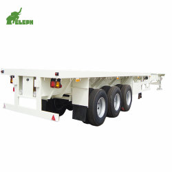 3 ESSIEUX 20 - 60 tonnes conteneur de transport du tuyau de longueur de remorquage à plat semi remorque extensible