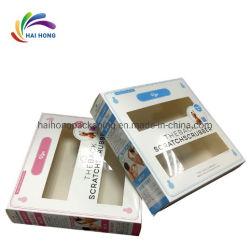 La fabrication du papier de pliage d'art 400gsm Boîte avec fenêtre pvc pour bouchon de douche à l'emballage