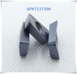 Zccの製粉の炭化物の挿入の鋼鉄代わりのためのCutoutil Apkt11t308
