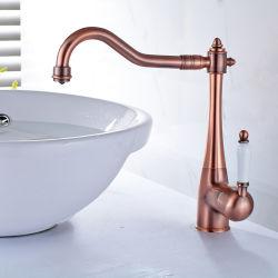 洗面所の洗面器の流しはレバーのFacuetsの単一のミキサーを叩く