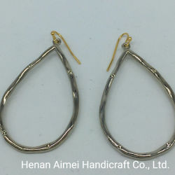 Haute qualité lisse en laiton plaqué or 14K Earring Fashion Hoop Earrings pour les femmes
