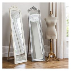 El bastidor de madera maciza planta Espejo vestidor independiente