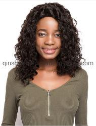 El Afro largo rizado peluca de pelo humano encaje frontal