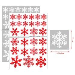 Transparentes kundenspezifisches entfernbares Weihnachtsdekoration-Fenster-Schnee-Form-Geschenk-mehrfachverwendbarer Glas Belüftung-Aufkleber