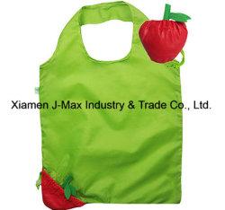 Sacs à main en polyester réutilisables pliable de fruits cadeau promotionnel coulisse Shopping sac fourre-tout
