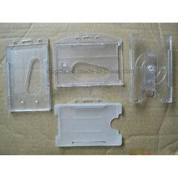 Possuidores de cartão feitos sob encomenda para o suporte duro plástico do logotipo da equipe de funcionários de Evernts Exposição Azul Companhia