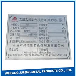 Aço Inoxidável Personalizada/alumínio/cobre/cobre a placa entalhada de Metal