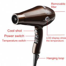 Secador de pelo profesional eléctrico de etiqueta privada Secador iónico.