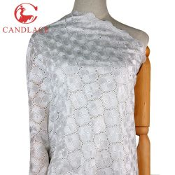 Neuer Form-Entwurfs-weißes Baumwolltextilspitze-Gewebe