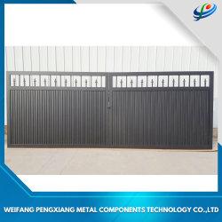 Revêtement en poudre allée en fer forgé, matériau de construction de la porte coulissante