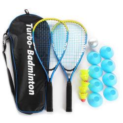 Logo personnalisé en alliage en aluminium de couleur de vitesse turbo de jeu de Raquette Badminton