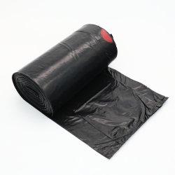 カスタムHDPE LDPE PLA Pbatのトウモロコシ澱粉の印刷の黒白いカラーCompostable生物分解性の医学の世帯の屑の高い台所プラスチックドローストリングのごみ袋