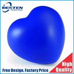 Espuma de poliuretano personalizadas de liberación de estrés El estrés en forma de corazón bolas, Anti Estrés corazón con la impresión de logotipo