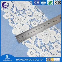 新しい水溶性の空のミルクの絹のカーテンのレースの白い芽の絹の布の刺繍のレース