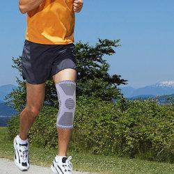 Nuevo estilo cómodo elástico en el tejido protector de los deportes de la correa de sujeción soporte de rodilla