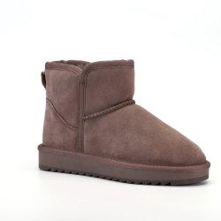 [أم] نساء أحذية حقيقيّة جلد يمهّد ثلج كاحل جزمة الزلّة دافئ مضادّة