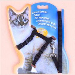Verstellbarer Pet Collar für Katzen Harness Leash Set