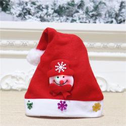 Tissu économique Non-Woven sentir bon marché de Noël à LED Santa Hat