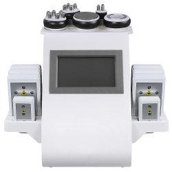 초음파 캐비테이션 RF 장비 판매용 지방 회전 헤드 본체 슬림화 6 in 1 미니 진공 캐비테이션 시스템