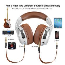 Kopfhörer-Berufsstudio-dynamischer Stereolithographie DJ-Kopfhörer mit Mikrofon-Hifi verdrahteter Kopfhörer-Überwachung