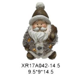 Polyresin OEM/ODM фестиваль рождественских подарков светодиодный индикатор Санта Клаус полимера судов