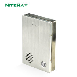 SIP de la puerta de audio del sistema de seguridad Teléfono Teléfono de la puerta de Internet