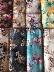 Bulk Purchase Factory Schöne Polyester Satin Bedruckten Vorhang Tuch