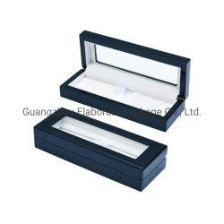 Personalizar o pacote de madeira MDF laca Dom titular de caneta na caixa Caso Caixa com vidro da janela superior