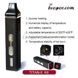 طقم تيتان 2 لهيريزر الجاف مع شاشة LCD معدنية قلم التبخير الجاف القابل للتنقل Titan-II