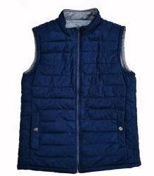 Los hombres chaqueta de invierno Reversible impermeable con cremallera de dos formas (PU recubiertos).