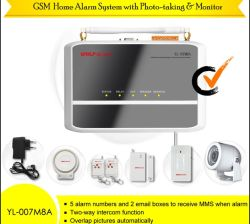 Wireless GSM MMS Home Security Alarm System (YL-007M8A)