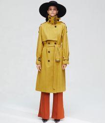 Manga Larga de estilo europeo, las mujeres abrigos de polvo 2018 Nuevo estilo de largo abrigo del viento de otoño de la mujer