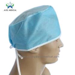 Cabeça descartáveis Nonwoven Vestuário de protecção contra poeira com boa qualidade de médico Pac Nonwoven Bouffant de PP da tampa tampa colorida Hair Net