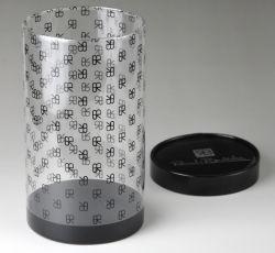 واضحة بلاستيكيّة أسطوانة أنابيب (محبوب صندوق مستديرة)