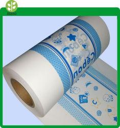 Plein film PE biodégradable Tôle arrière / Baby Film de polyéthylène de couches pour bébé Les couches de film de couches pour adultes