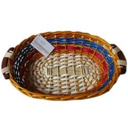 Cestino del pane di vimini del regalo di picnic del salice