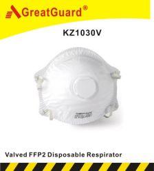 Isqueiros FFP2 tubo valvulado N95 AS/NZS Valvuladas Máscara facial respiradores para protecção (KZ1031)