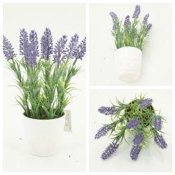 Lanvender cubeta de plástico barato flor artificial de la decoración del hogar GF15765