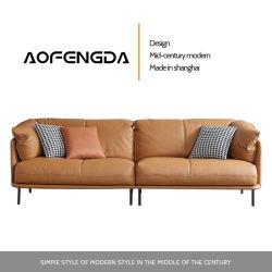 革ソファーヘッド層の革靴イタリア様式ライト贅沢な革芸術の極度の柔らかいソファーの現代簡単な居間の組合せ2020095