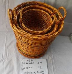Casa tejida de junco Canasta de almacenamiento de juguetes de lavandería de ropa tejidos de mimbre Cesta Organizador