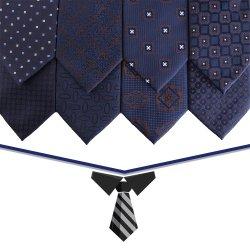 الجملة 7.5سم بولي استر جاكار منسوجة البحرية فلوراال الرجال ربط ربطة العنق