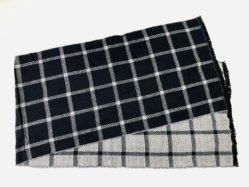 Les hommes Fashion châle d'hiver vérifié longue écharpe acrylique double côté Plaid
