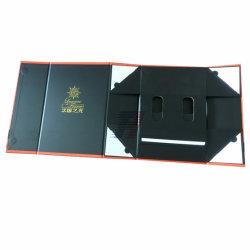 2 бутылок 2, упакованных вино упаковка Складные коробки из дерева MDF системной платы