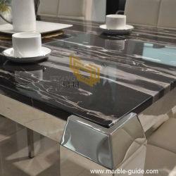 قطعة صينية سوداء لامعة جمليّة، دراغون، رخام حجري، / سطح طاولة، سطح طاولة
