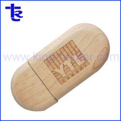 Customized Dispositivo USB de memória Flash USB de madeira Pen Drive Bambu